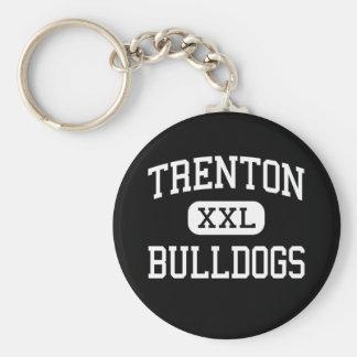 Trenton - Bulldogs - High - Trenton Missouri Basic Round Button Keychain