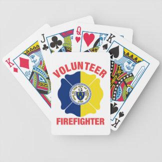 Trenton, cruz del bombero del voluntario de la cartas de juego