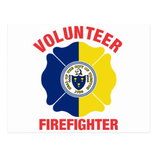 Trenton, cruz del bombero del voluntario de la postal