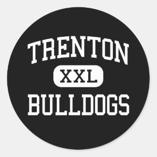 Trenton - dogos - alta - Trenton Missouri Etiqueta Redonda