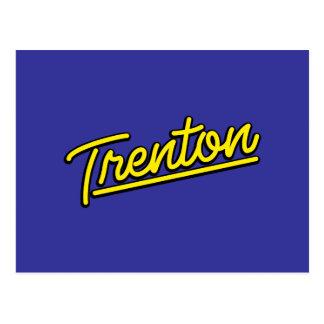 Trenton en amarillo tarjetas postales