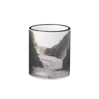 Trenton Falls - High Falls in Summer Ringer Coffee Mug