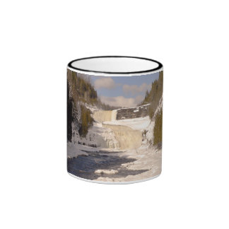 Trenton Falls - High Falls in Winter Ringer Coffee Mug