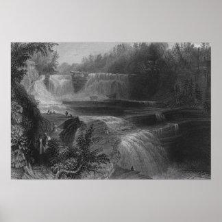Trenton High Falls, 1838 Poster