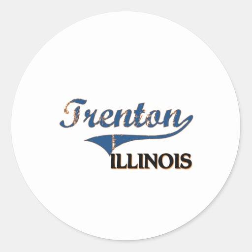 Trenton Illinois City Classic Stickers