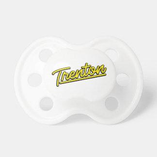 Trenton in yellow pacifier