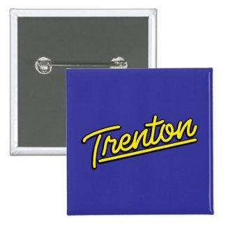 Trenton in yellow pinback button