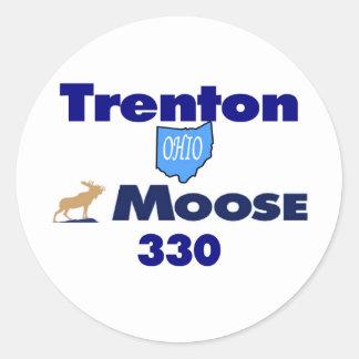 trenton.jpg classic round sticker
