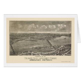 Trenton, mapa panorámico de NJ - 1900 Tarjeta De Felicitación