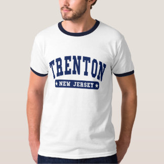 Trenton New Jersey College Style tee shirts