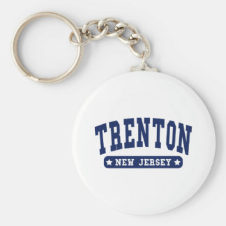 Trenton New Jersey College Style tee shirts Key Chain