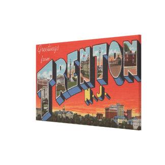 Trenton, New Jersey - escenas grandes de la letra Lona Estirada Galerías