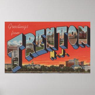 Trenton, New Jersey - escenas grandes de la letra Póster