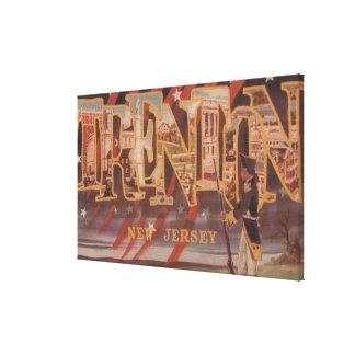 Trenton, New Jersey (revolucionario) Lona Envuelta Para Galerias