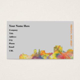 TRENTON, NEW JERSEY SKYLINE WB1 BUSINESS CARD