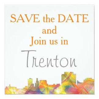 TRENTON, NEW JERSEY SKYLINE WB1 INVITATION