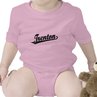 Trenton script logo in black baby bodysuit
