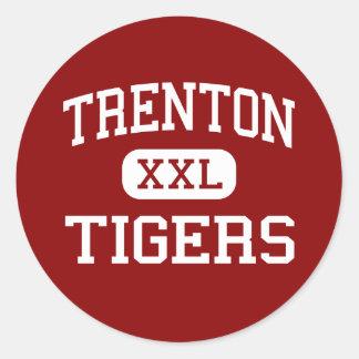 Trenton - Tigers - High School - Trenton Texas Classic Round Sticker
