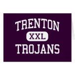 Trenton - Trojans - High School - Trenton Michigan Greeting Card