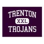 Trenton - Trojans - High School - Trenton Michigan Postcard