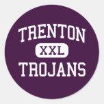 Trenton - Trojans - High School - Trenton Michigan Round Stickers