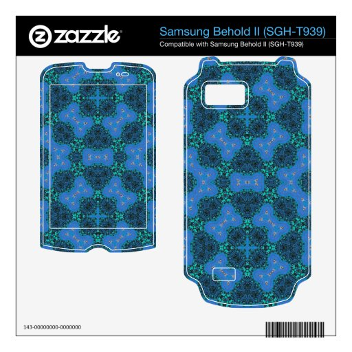 Trenyd Blue Pattern Samsung Behold II Skins