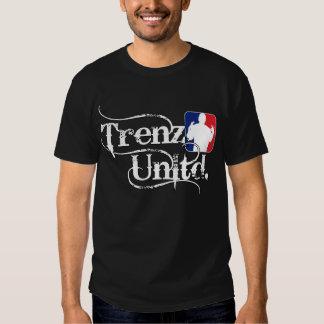 Trenz Unltd. Logotipo - camiseta negra Playeras