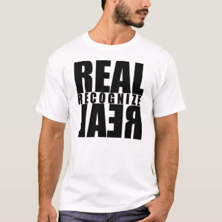 Trenz Unltd. - Real Recognize Real White Tee