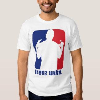 Trenz Unltd. Red & Blue Poppin' Collar - White Tee