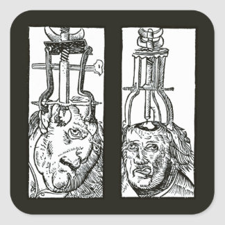 Trepanation For Handywarke of Surgeri Square Stickers