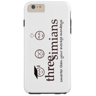 Tres accesorios del logotipo de los Simians - caso Funda De iPhone 6 Plus Tough