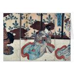 Tres actores por Utagawa, Kuniyoshi Felicitación