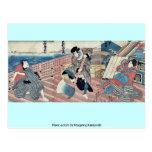 Tres actores por Utagawa, Kuniyoshi Tarjetas Postales