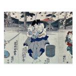 Tres actores por Utagawa, Toyokuni Postal