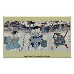 Tres actores por Utagawa, Toyokuni Posters