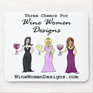 Tres alegrías para los diseños de las mujeres del  mouse pad