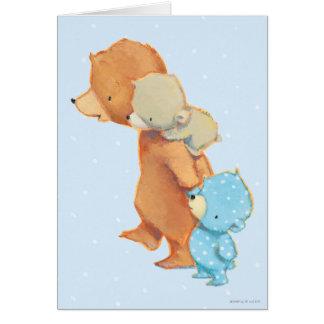 Tres amigos adorables del oso tarjeta de felicitación