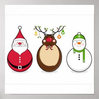 Tres amigos del navidad póster