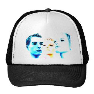 Tres) amigos frescos de las caras (, diseño minima gorras de camionero