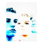 Tres) amigos frescos de las caras (, diseño minima membrete