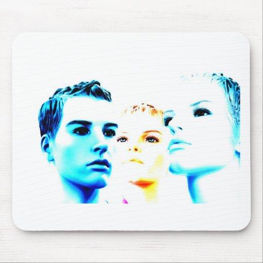 Tres) amigos frescos de las caras (, diseño minima tapete de ratones