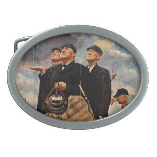 Tres árbitros hebillas cinturon ovales