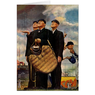 Tres árbitros tarjeta de felicitación