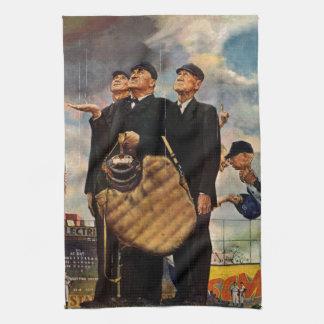 Tres árbitros toallas de mano