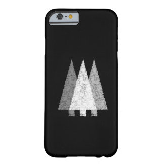 Tres árboles en blanco y negro. funda para iPhone 6 barely there