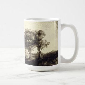 Tres árboles - Holanda 1643 Tazas De Café