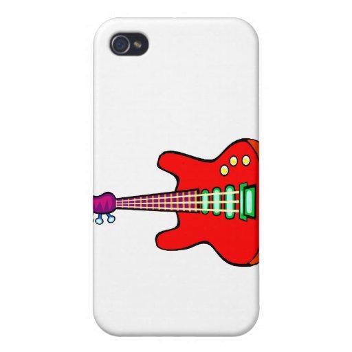 Tres ataron el gráfico de la imagen de la guitarra iPhone 4 coberturas