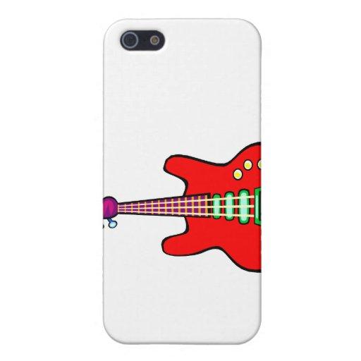 Tres ataron el gráfico de la imagen de la guitarra iPhone 5 carcasas