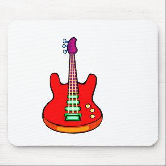 Tres ataron el gráfico de la imagen de la guitarra alfombrillas de ratón
