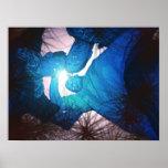 tres azul print